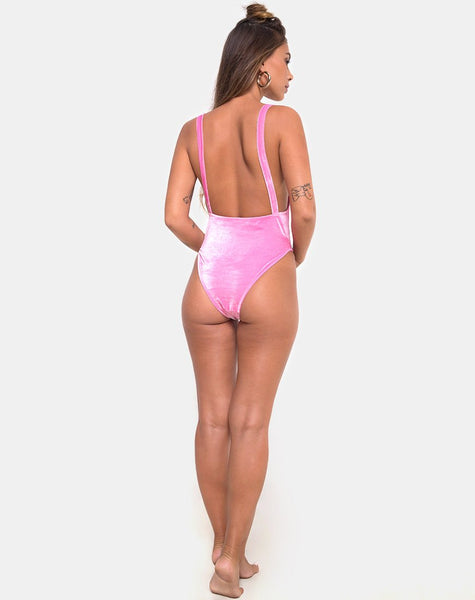 Valeo Swimsuit in Velvet Candy Pink by Motel
