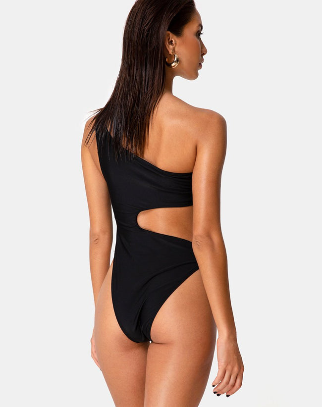 Velora Swimsuit in Matte Black by Motel