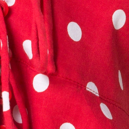 Vinequa Top in Medium Polka Red and White by Motel