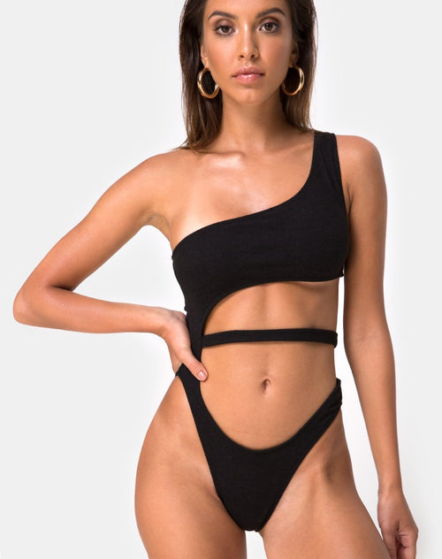 Vixie Swimsuit in Black by Motel
