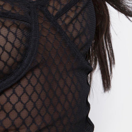 Yecal Bodice in Black Fishnet