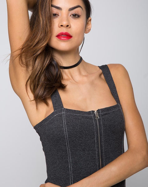Yona Bodycon Dress in Denim Black by Motel