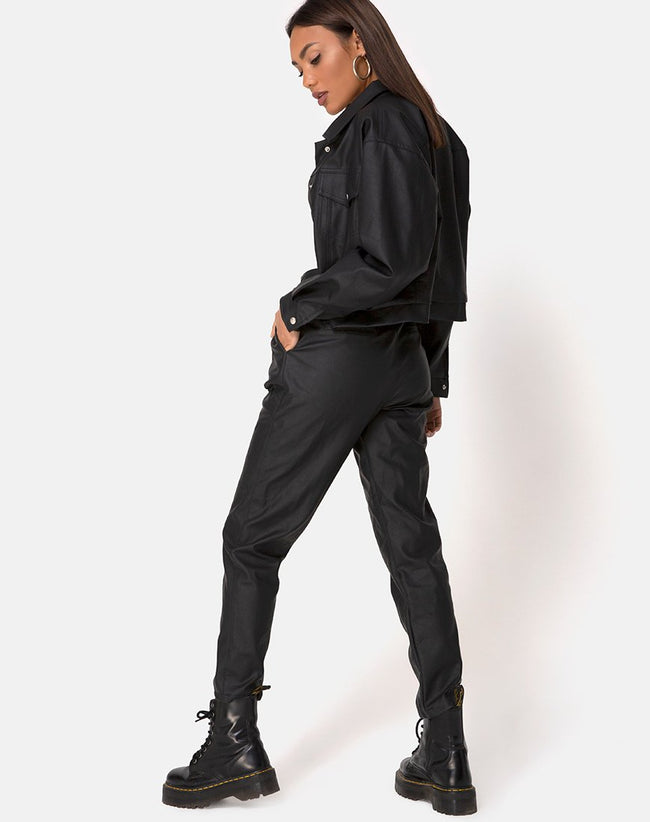 Zastan Trouser PU Black by Motel