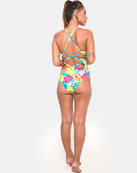 Cosette Swimsuit in Tropicana Floral by Motel