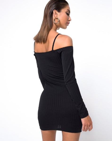 Jetty Bodycon Dress in Black by Motel
