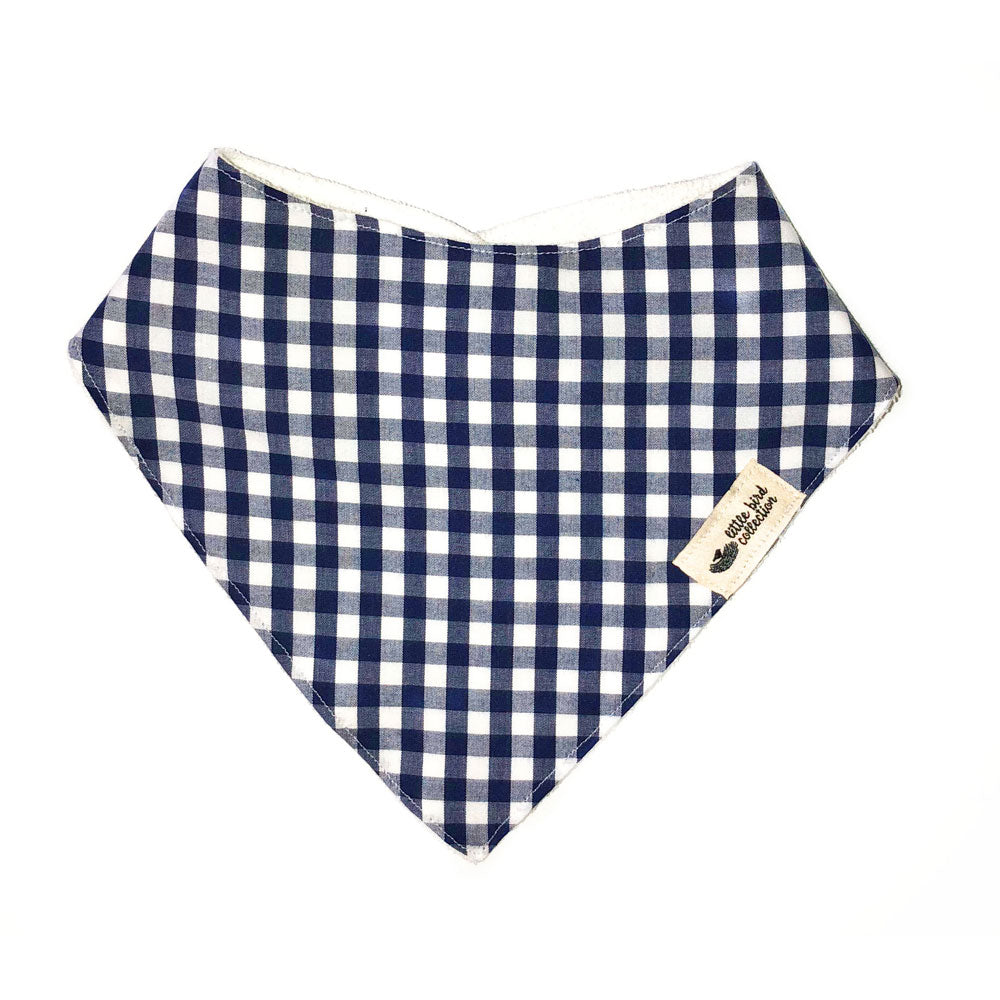 Navy Gingham Bib