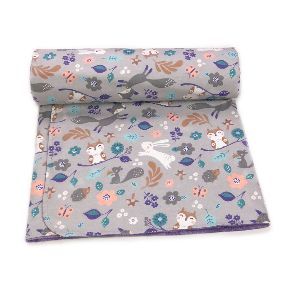 Purple Woodland Blanket