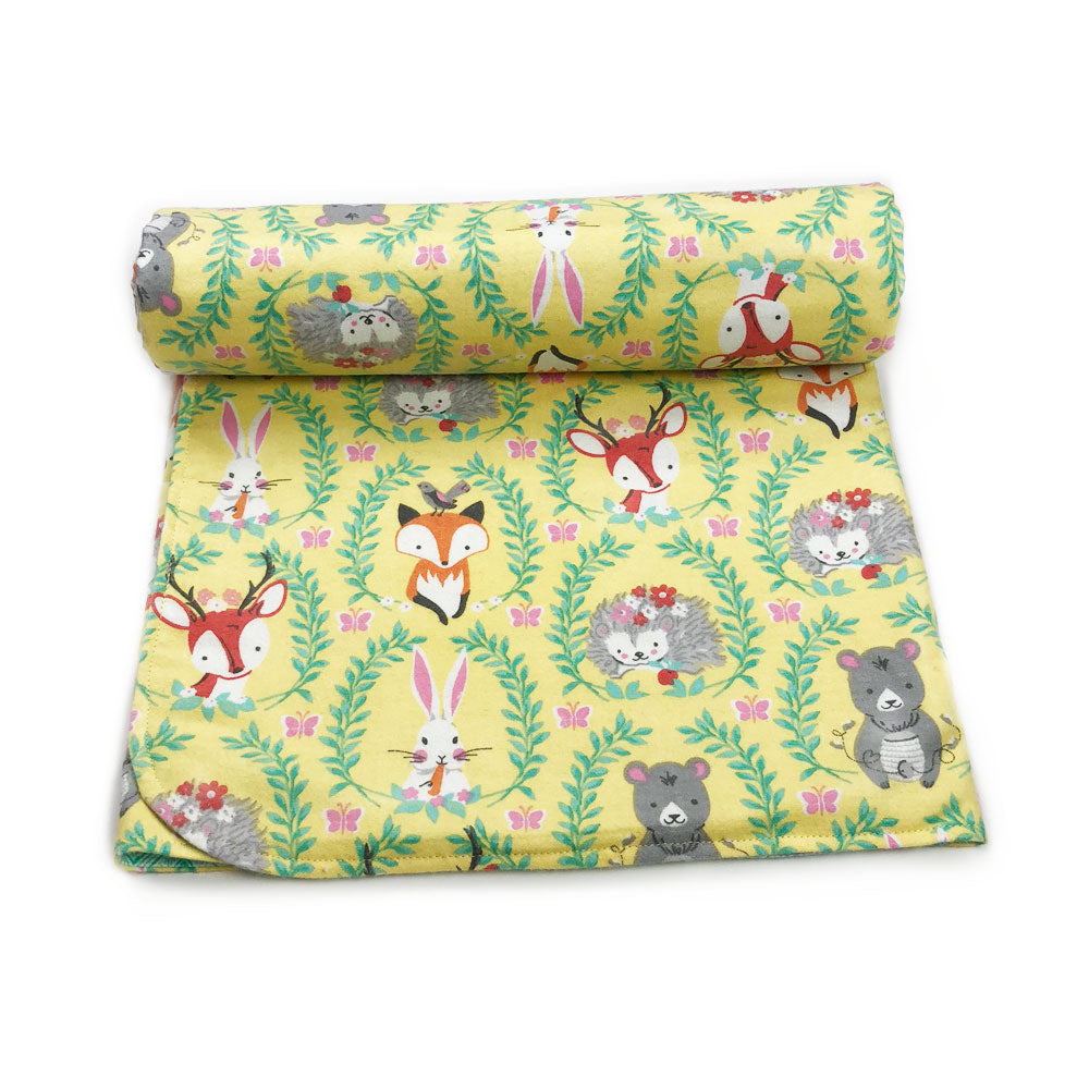 Yellow Woodland Blanket