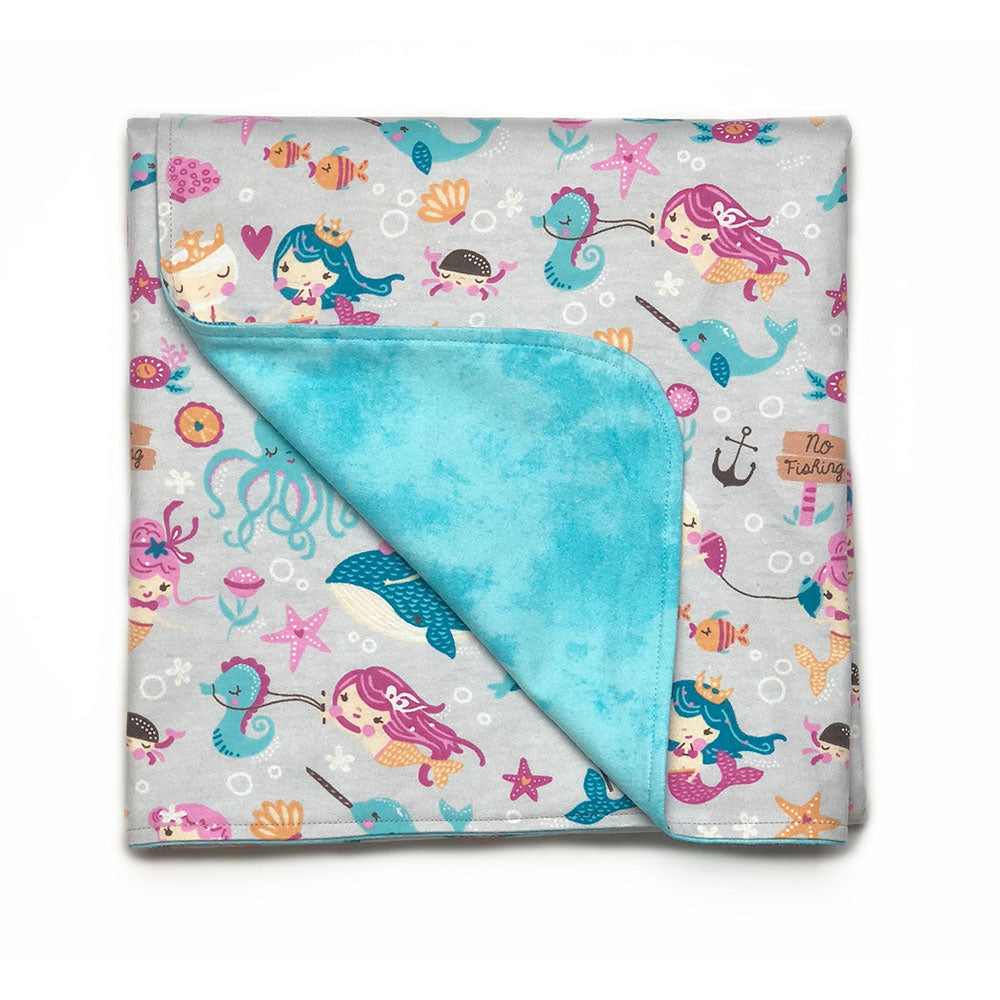Mermaids Flannel Blanket
