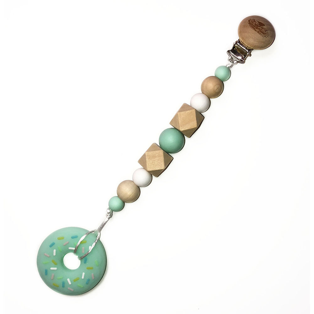 Sprinkle Dipped Green Donut Teether