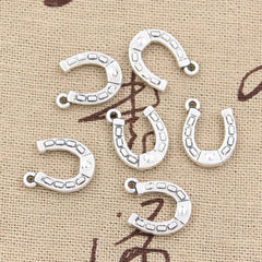 10pcs 15x12mm, Antique lucky horseshoe Charm/ Pendant