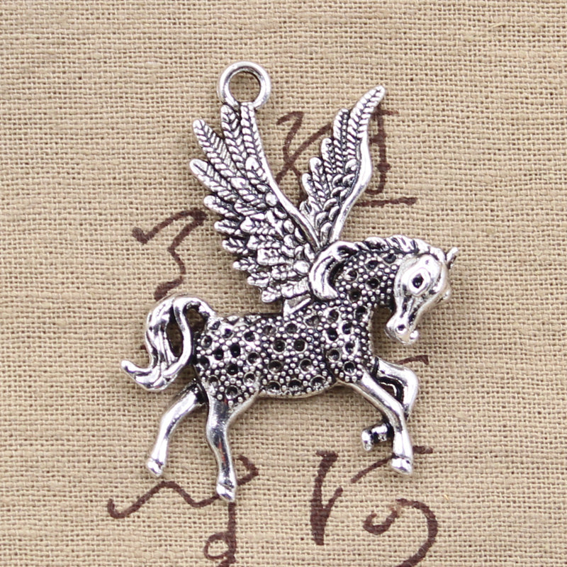 1pcs Charms fly horse 52*42mm Antique Tibetan Silver Pendant Findings Accessories DIY Vintage Choker Necklace