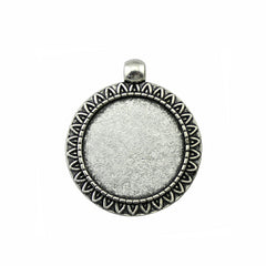 10pcs 25mm Inner Size, Antique Cabochon Base Pendant