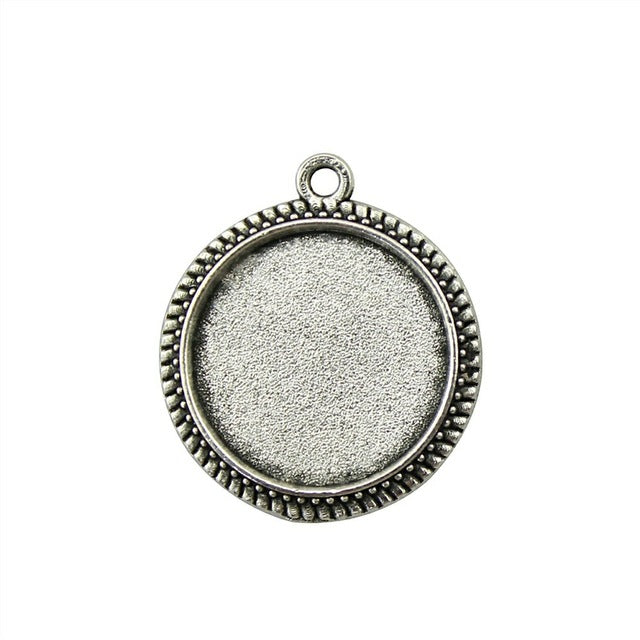 10pcs 16mm Inner Size, Antique Cabochon Base Pendant