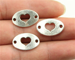 WYSIWYG 8pcs 13x20mm Heart Connector Charms Heart Connector Charms For Jewelry Making Connector Heart Charms