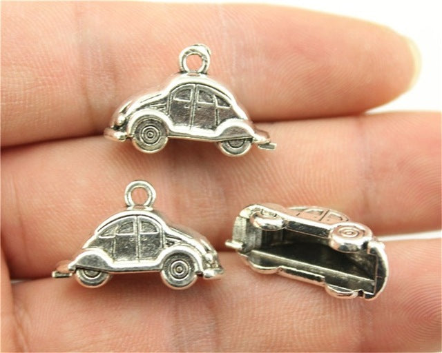 WYSIWYG 5pcs 23x15mm 2 Colors Antique Silver, Antique Bronze Plated 3D Car Pendant Car Charm Pendants Vintage Car Pendant