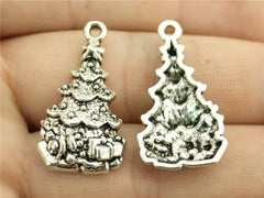 WYSIWYG 5pcs 30x16mm Pendant Christmas Tree Christmas Tree Charm Pendants For Jewelry Making Christmas Tree Pendants