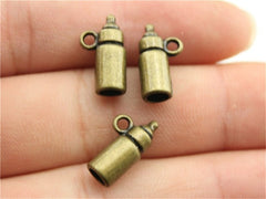 WYSIWYG 6pcs 15x5x5mm Charm Baby Feeding Bottle 3D Baby Feeding Bottle Charms For Jewelry Making Feeding Bottle Charms