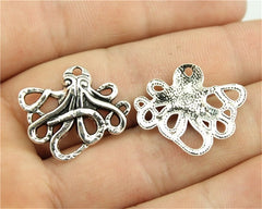 WYSIWYG 10pcs 23x20mm Pendant Small Octopus Small Octopus Charm Pendants For Jewelry Making Small Octopus Pendants