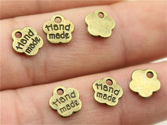 WYSIWYG 40pcs 8mm Charm Hand Made Tiny 3 Colors Hand Made Charms Hand Made Pendant Charms For Jewelry Making Diy
