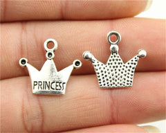 WYSIWYG 10pcs 17x19mm Pendant Princess Crown Crown Princess Charm Pendants For Jewelry Making Princess Crown Pendants