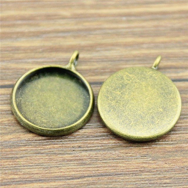 10pcs Glass Cabochon Base Pendant Tray
