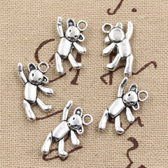 10pcs 19x10mm, Antique Teddy bear Charm/pendant