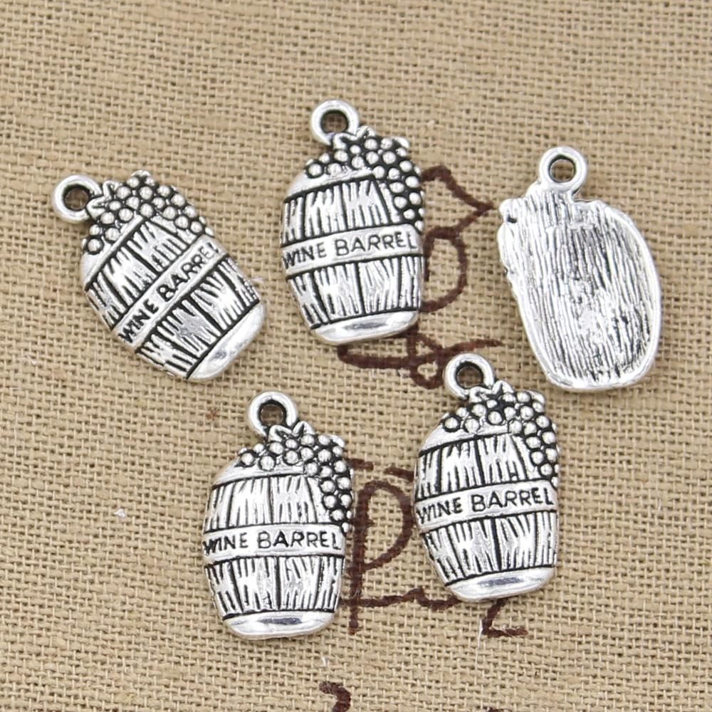 10pcs  19x11mm, Antique wine barrel cask Charm/ pendant