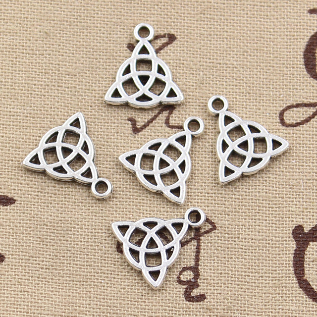 10pcs 16X14mm, Antique Amulet Charm/ Pendant