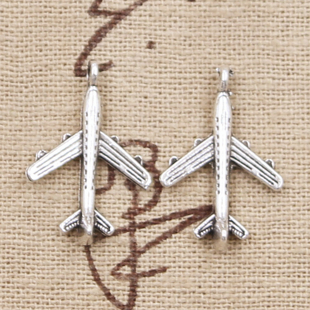 10pcs  22x14mm, Antique Plane airplane Charm/ pendant