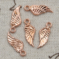 10pcs 21x8mm, Antique  angel wing Charm/ pendant