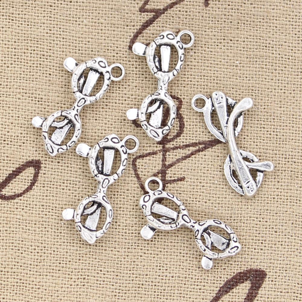 10pcs 21x10mm, Antique sunglasses glasses Charm/ pendant