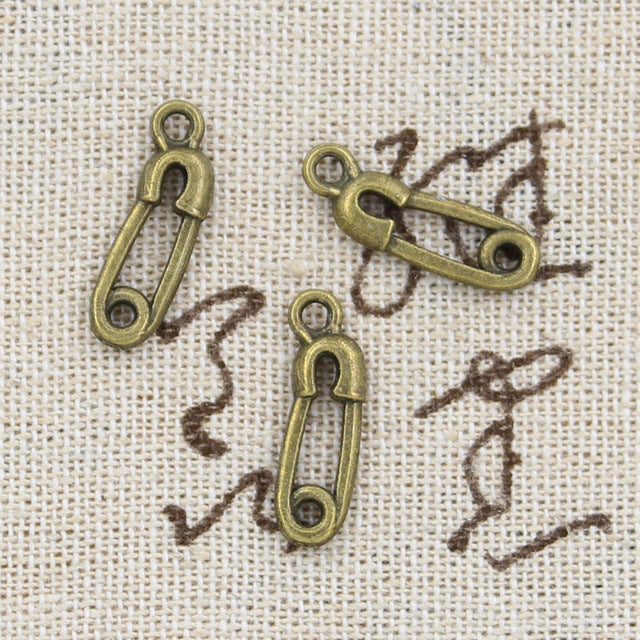 15pcs Charms pin 19*6mm Antique Making pendant fit,Vintage Tibetan Bronze,DIY bracelet necklace