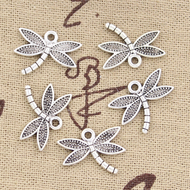 10pcs 18x14mm, Antique dragonfly Charm/ pendant