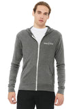 Triblend Lightweight Hooded Full-Zip Tee #3939