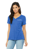 Short Sleeve V Neck T-Shirt Women's Bella + Canvas #6405