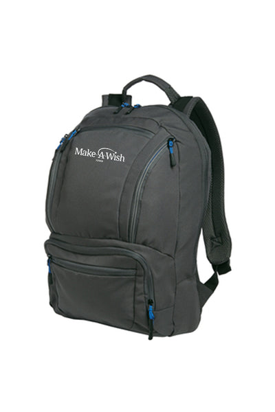 Port Authority Cyber Backpack #BG200 (Dark Charcoal/Royal)