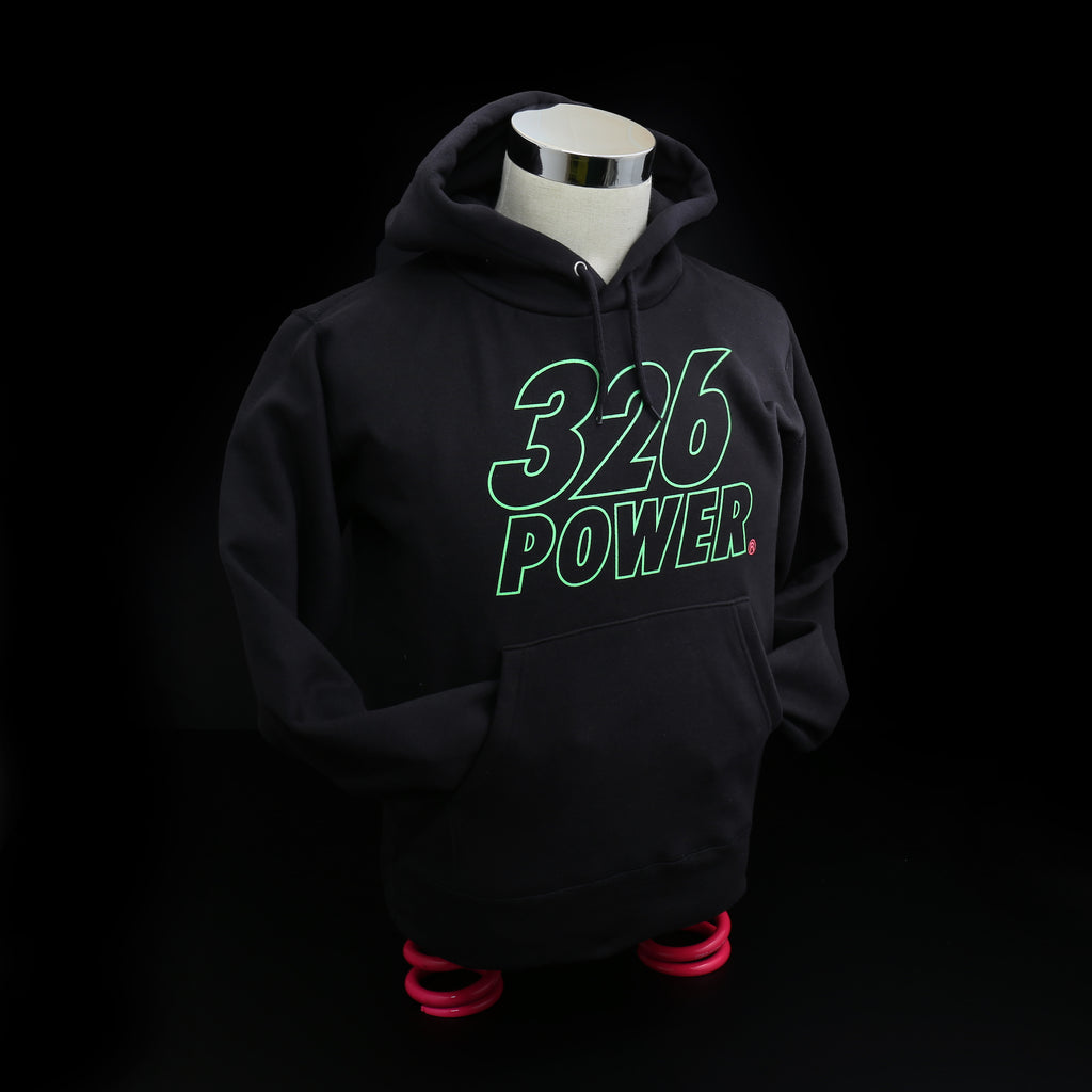 326POWER 2019 Hoodie (Black/Green)