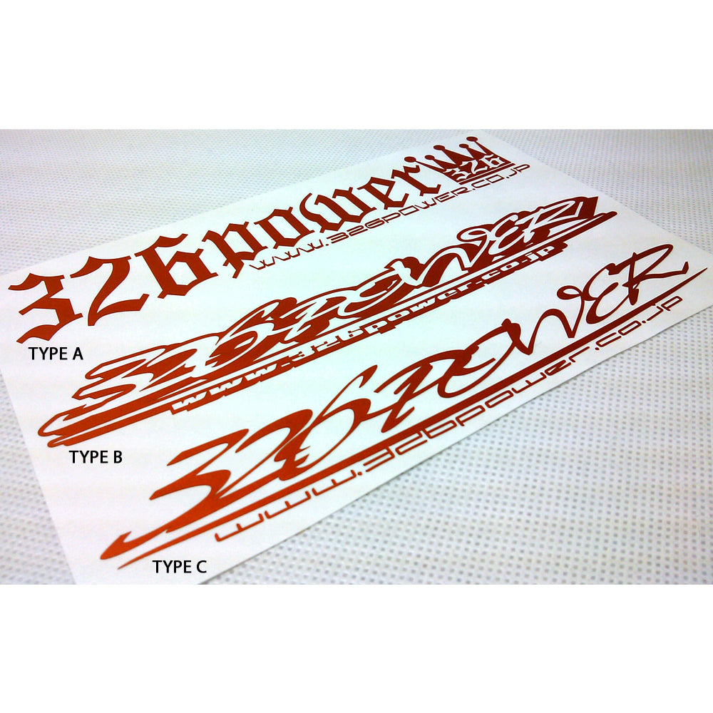 326POWER Windscreen Sticker
