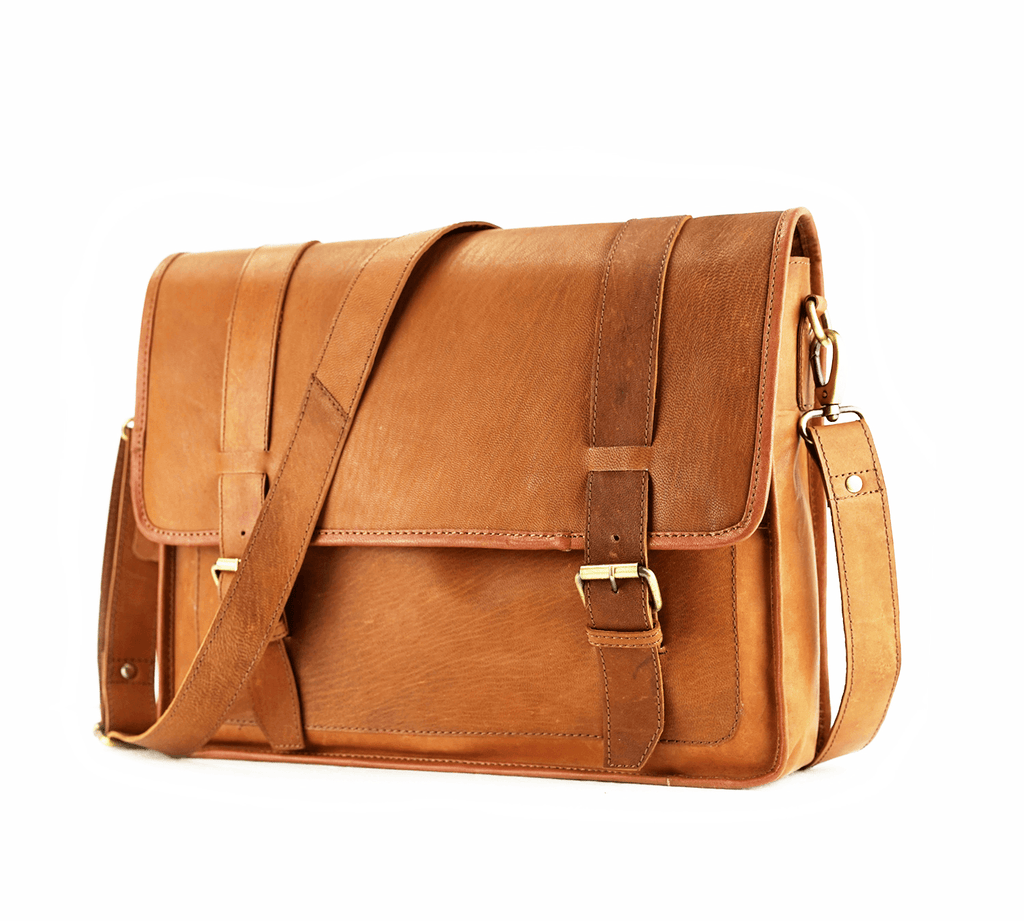 Leather Messenger Bag - Darwin - Vintage Leather
