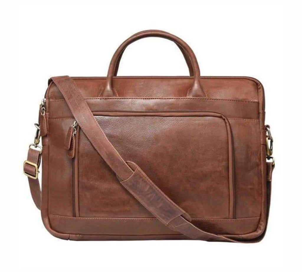 Leather Laptop Bag - Santosa - Vintage Leather