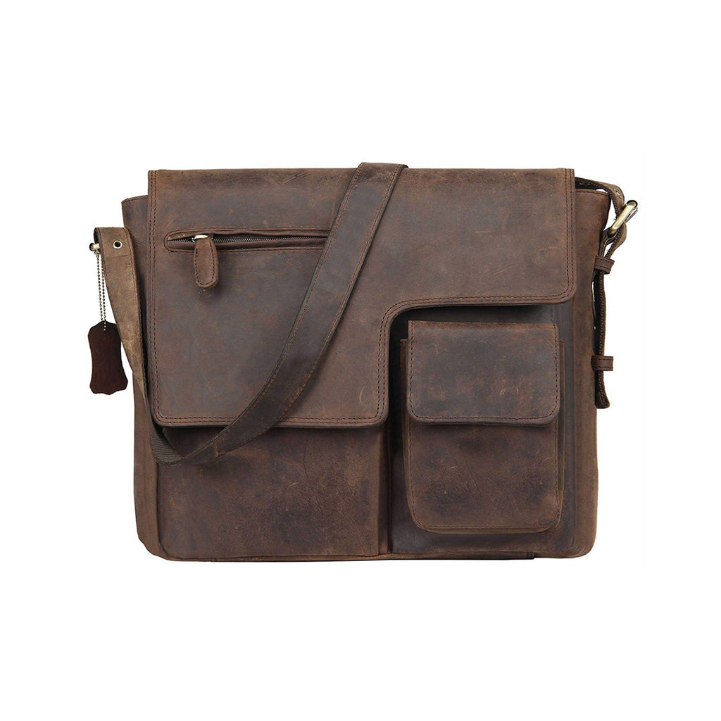 Leather Messenger Bag - Ipswich - Vintage Leather