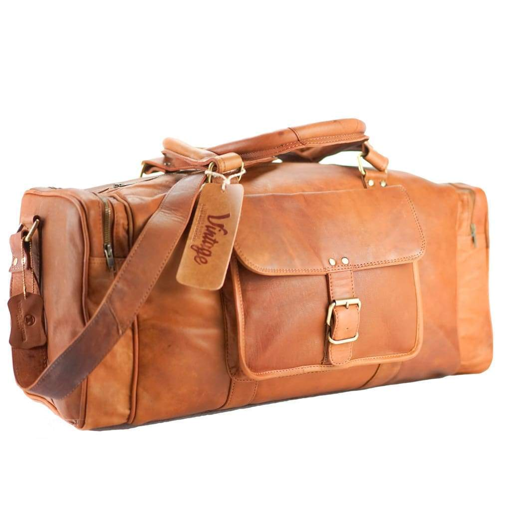 Leather Duffle Bag - Sydney - Vintage Leather