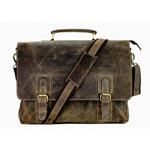 Leather Messenger Bag - Bronx - Vintage Leather