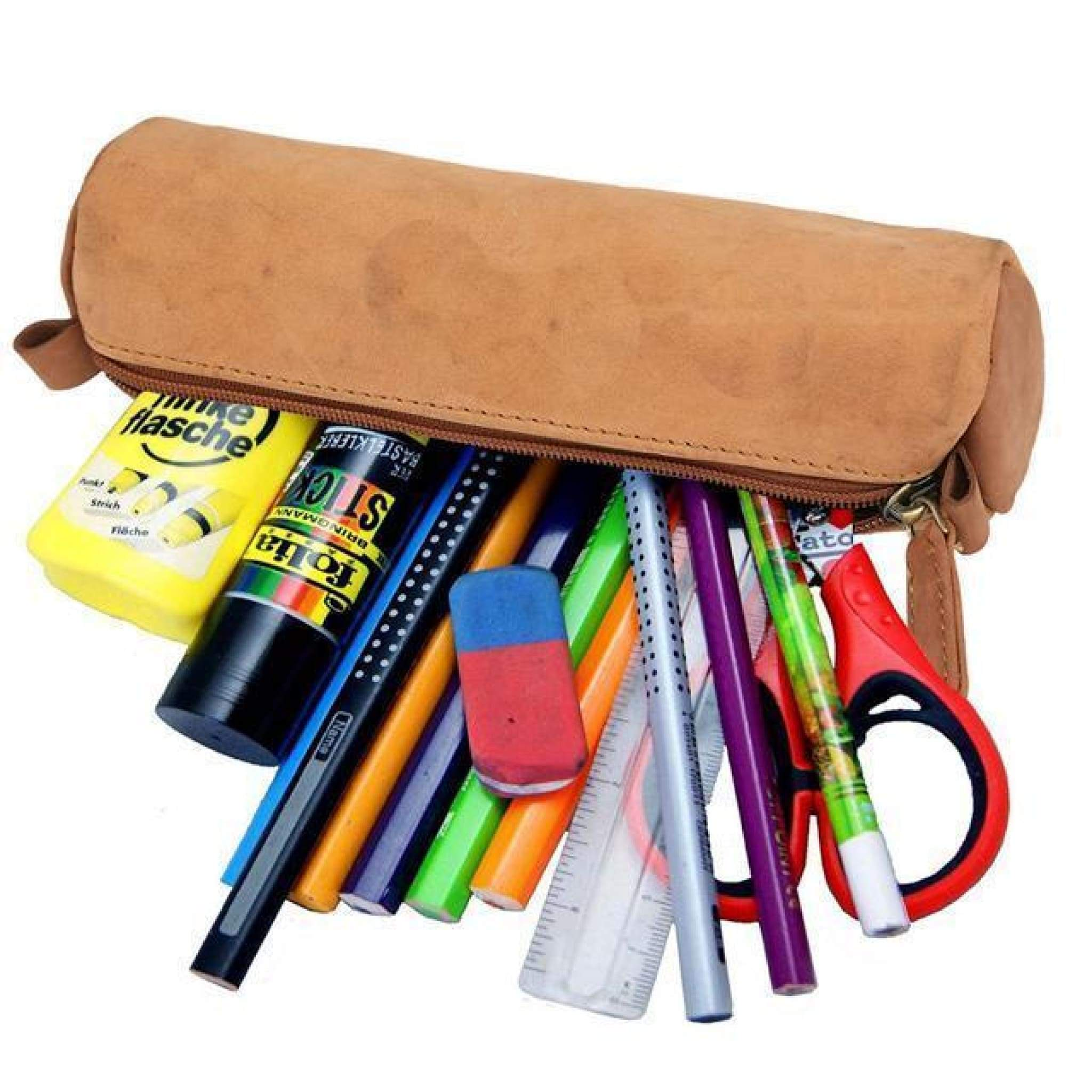 Rusthide | Vintage Handmade Leather Pencil Case Stationery Case / Free Shipping: Rusthide.com