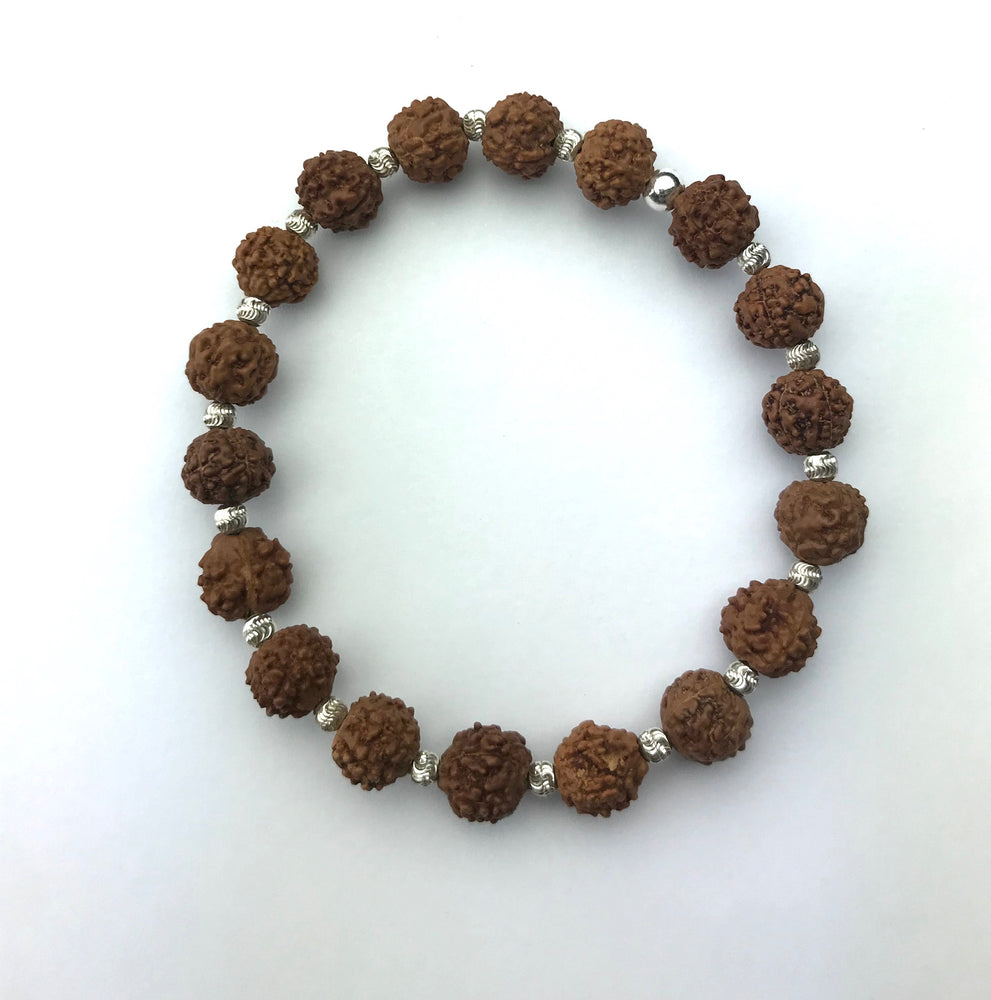 Rudraksha Sterling Silver Stacking Bracelet