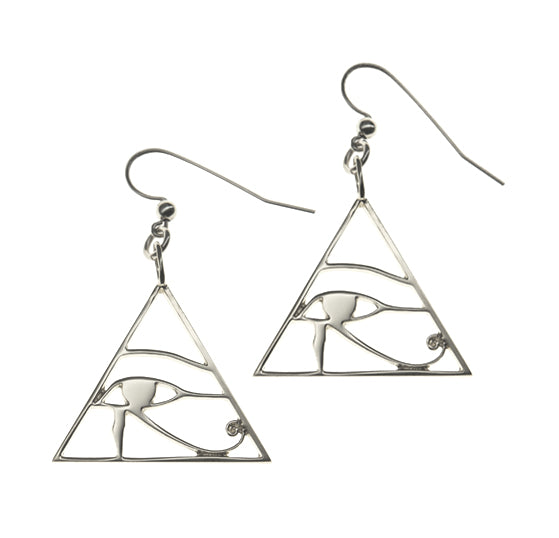 eye of horus earrings silver