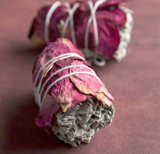 rose sage smudge stick