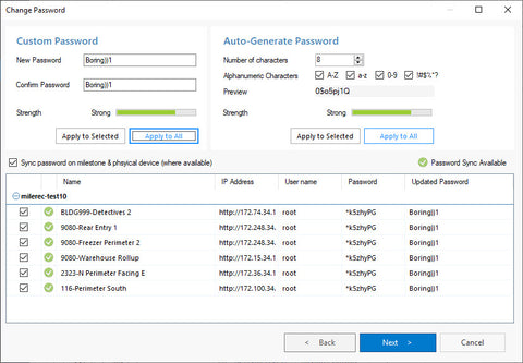 Bulk password management for Milestone XProtect using The Boring Toolbox