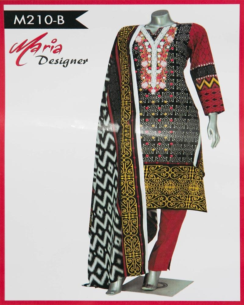 1cfab92738 Maria Designer Lawn Maria Monsoon Embroidered Lawn Suits - 3 Piece Suits -  M210-B